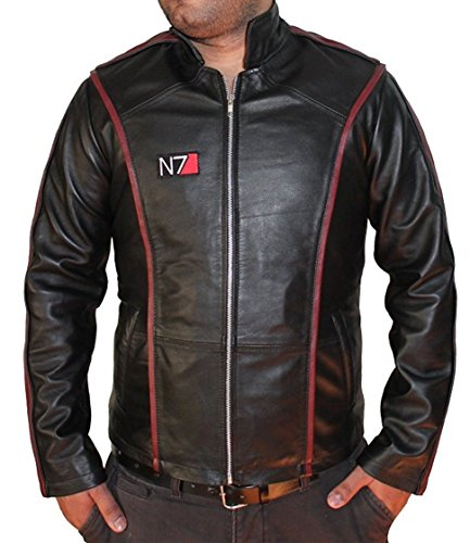 Hollywood Jacket Herren N7 Mass Effect 3 Lederjacke 2X-Large Schwarz
