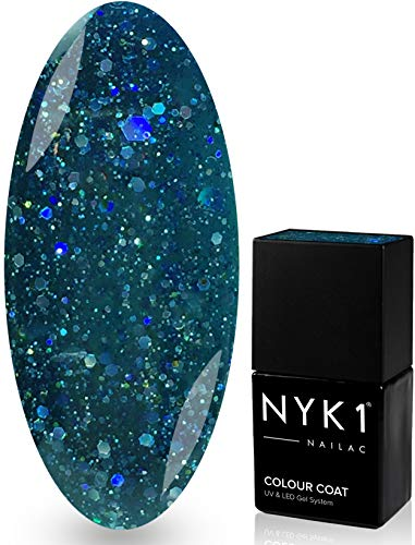 NYK1 NAILAC - DIAMOND MIDNIGHT - Professional Gel Nail Polish - UV & LED Drying - Quick Soak Off Gel Polish 10ml - Over 100 Colours to Choose From! by NYK1