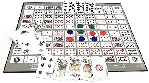 Meirrai Englisch und Arabisch Sequenz Brettspiel Schach Familie Spiel Spielzeug, Sequenz spannendes Spiel der Strategie Deluxe Edition Tisch Spiel Muster großes Schachbrett