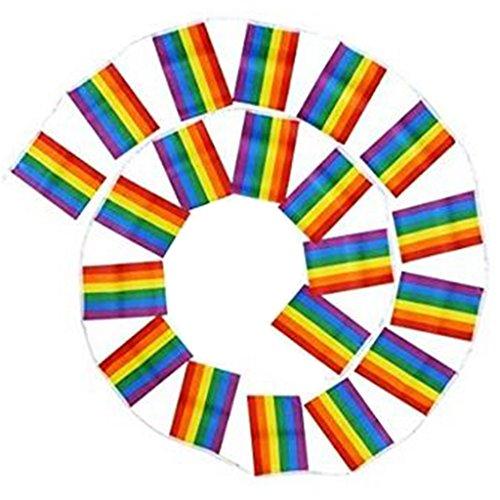 Shefii Gay Friendly Rainbow Flags Garland Lesbian Pride Banners Festival Carnival