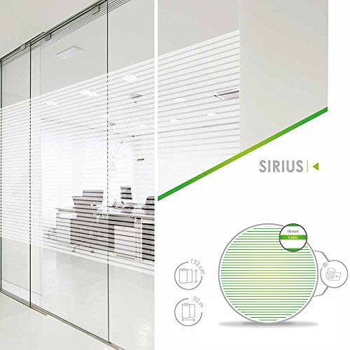 Zonnescherm € 8,18/m2 raamfolie, zelfklevend melkglasfolie Sirius 61 cm brede folie raamfolie