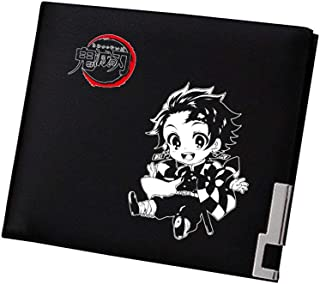 TPS Demon Slayer 1 Kimetsu no Yaiba Anime Money Bag Student Short Purse Pu Leather Slim Wallet Kamado Tanjirou ID Card Holder Change Clutch