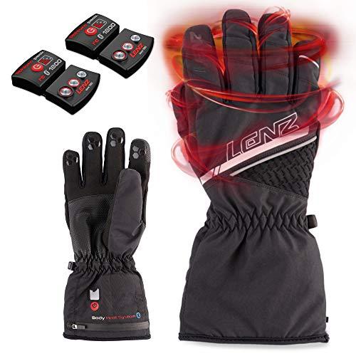 Lenz Heat Glove 5.0 Unisex Set con 1800 Li-Ion Batteria Guanti riscaldati Moto Guanti riscaldati Bici Guanti elettrici riscaldati Guanti Sci riscaldanti