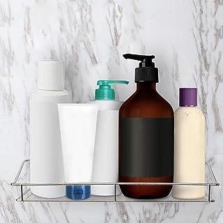 Support de rangement en acier inoxydable Étagère de salle de bain Rangement mural Organisateur d'étagère de salle de bain ...