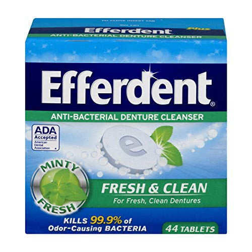 Efferdent Denture Cleanser Tablets, Fresh & Clean, 44 Tablets