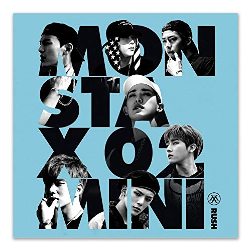 MONSTA X 2nd Mini Album - RUSH [ SECRET ver. ] CD + Booklet + Photocard + FREE GIFT / K-pop Sealed
