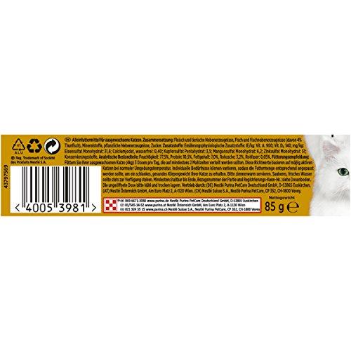 Gourmet Gold Katzenfutter Feine Pastete mit Thunfisch, 12er Pack (12 x 85 g) Dosen - 2