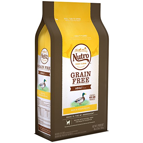 NUTRO GRAIN FREE Adult Natural Dry Cat Food Duck & Potato Recipe, 3 lb. Bag