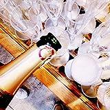 Sektgläser Plastik 50 Stück Einweg Champagnergläser 0,1l Bruchfest – Glasklar – Höhe 16cm - 6
