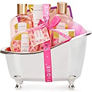 Spa Luxetique Spa Gift Set, Pamper Gifts for Women, 8pcs Rose Bath Gift Set with Body Lotion, Body B...