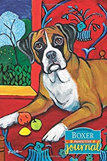 Boxer Pawsitive Journal (Matisse-Inspired): Lined Gratitude Journal for Dog Lovers