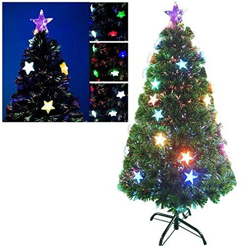 MAURY'S Albero di Natale LED E Fibre Ottiche 150 Cm