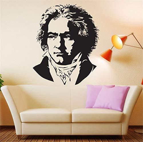 wandaufkleber 3d spiegel Beethoven Büste Komponist Klaviermusik Pianist Wohnzimmer Jungenzimmer Musikzimmer