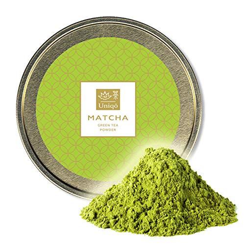 Matcha Tee Pulver - Ideal für Eis, Latte, Shakes, zum Backen oder Kochen - Japanischer Grüntee Pulver, 100% natürlich, in wiederverschließbarer Dose