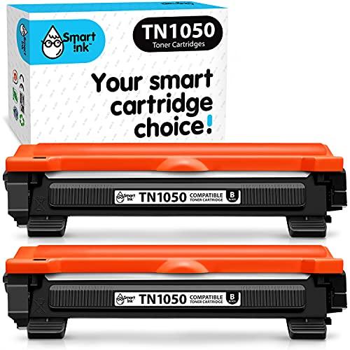 Smart Ink kompatible Tonerkartusche als Ersatz für Brother TN1050 TN-1050 TN 1050 (2 Schwarz Multipack) kompatibel mit Brother DCP-1510 HL-1110 MFC-1810 MFC-1910W DCP-1610W DCP-1612W DCP-1512