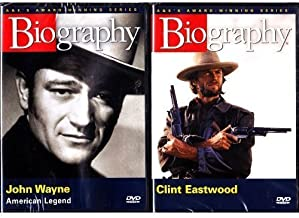 Clint Eastwood Biography and John Wayne Biography : Western Cowboy Legends Biography 2 Pack Box Set
