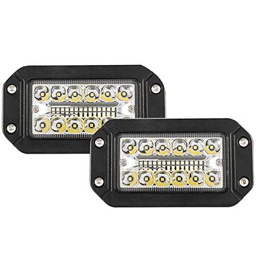 WPFC 12V 6 Pulgadas De Montaje Empotrado Luz De Trabajo Foco 26 LED Super Brillante De Coches Faros, 2Pcs