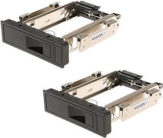 HDDラック 2個入 3.5インチ SATA HDD ハードディスク トレイ不要 モバイルラック ホットスワップ 取り付け簡単