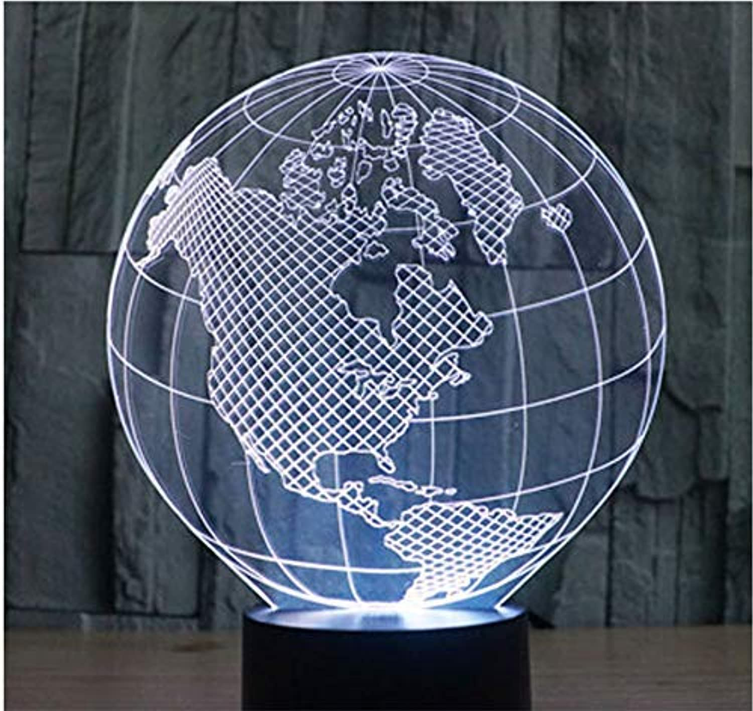 BMY 3D Led Night Light Map of America with 7 colors Light for Home Decoration Lamp Amazing Visualization Optical Illusion Awesome