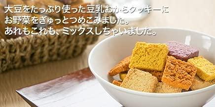 【十二堂】お豆腐屋さんがこだわってつくった美味しい「豆乳おからクッキー」 野菜MIX5袋セット(合計100枚)