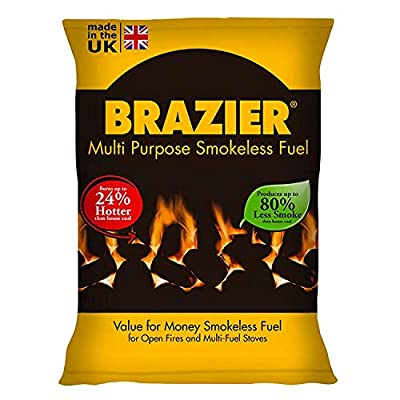 2XBrazier Smokeless Coal 20Kg