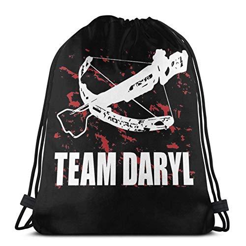 LREFON Team Daryl Dixon The Sport Sackpack Drawstring Backpack Gym Bag Sack