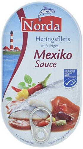Norda Heringsfilets Mexiko, 13er Pack Konserven, Fisch in Gemüsesauce