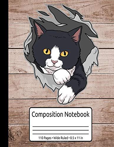 Tuxedo Cat Gifts Women Kitten Tuxedo Gifts Men Tuxedo Cat Composition Notebook 110 Pages Wide Ruled 8.5 x 11 in: Tuxedo Cat Book