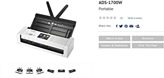 Brother ADS-1700W Wireless Compact Document Scanner