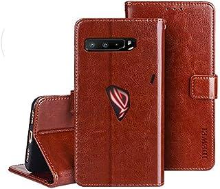 جراب هاتف ASUS ROG PHONE 3 ZS661KS Flip PU Crazy Horse textured Shatterproof - بني