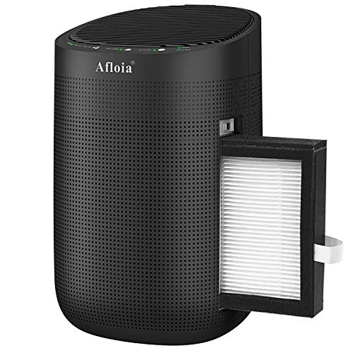 Afloia Air Purifier with Dehumidifier Function, True HEPA Filter for Home, Portable Compact Dehumidifier with Auto Shut Off for Bathroom, RV, Basements, Bedroom and Baby Room