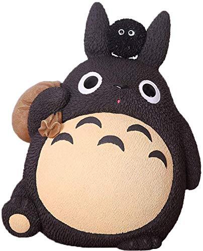 Figuras de mi Vecino Totoro con Hucha Miyazaki Spirit Away Figuritas para Decoraciones Micro Paisaje hágalo Usted Mismo Regalos para niños (C)