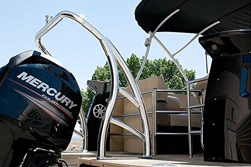 Aerial Wakeboarding Universal Ski Tow Bar for Pontoon Boats - Polished Aluminum