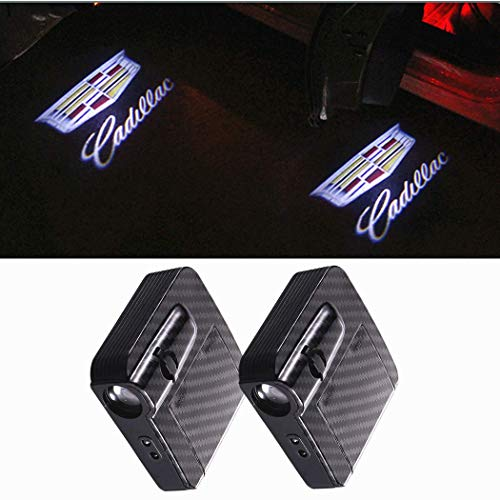 Car Wireless Door Lights Logo Projector Ghost Lights for Cadillac CTS ATS XT4 XT5 CT6 SRX XTS ESCALADE 3D Shadow Lights Puddle Lights Infrared Induced Lights Accessories