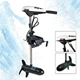 Electric Trolling Motor, 65 LBS Electric Thrust Trolling Outboard Motor for Inflatable Fishing Boats Freshwater and Saltwater Use Outboard Motor Fishing Boat Engine Motor UPS