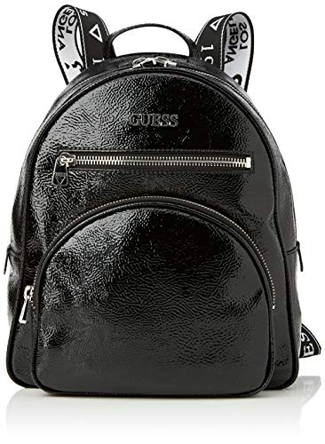 Guess New Vibe Large Backpack, Bags Crossbody mujer, Black, talla única