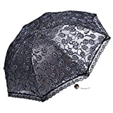 YZMBYUSAN Regenschirm kompakte Hochzeit Sonnenschirm Falten Reisen Sonnenschirm Block (grau) -