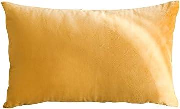 In House 1-Piece Velvet Rectangular Decorative Seat Cushion 30x50cm - Mustard