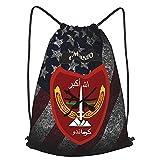 Afghan National Army Commando Corp Sport Yoga Gym Bag para niños, mujeres, hombres, adolescentes, 14 x 16.5 pulgadas