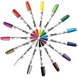 powerful Sharpie Paint Marker Fine Point Oil Base All 15 Color Set