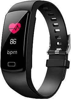 Smart Fit - Pulsera de actividad deportiva con monitor de ritmo cardíaco, monitor de sueño, pantalla a color, Bluetooth, monitor de actividad, impermeable, contador de pasos, podómetro y contador de calorías
