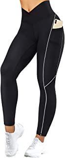 Women Reflective High Waisted Running Leggings with...