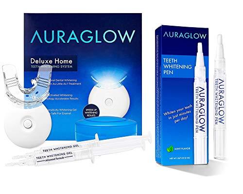 AuraGlow Whitening Kit and Whitening Pen Bundle