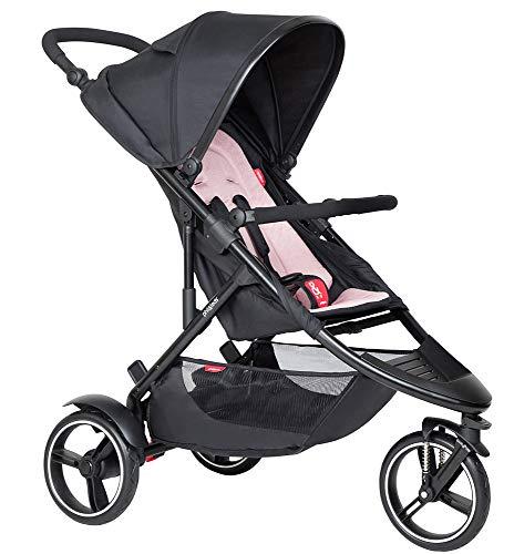 Phil&teds Dot V6 2019+ Kinderwagen, Buggy mit Sitzauflage blush