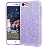 MATEPROX iPhone SE 2020 case,iPhone 8 case,iPhone 7 Glitter Bling Sparkle Cute Girls Women Protective Case for 4.7' iPhone 7/8/SE (Purple)
