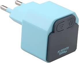 Ocamo 300Mbps WIFI Extender Mini Wireless Repeater AP Router Wall Plug Wi-Fi Signal Amplifier Range Extender Booster European Regulations Blue