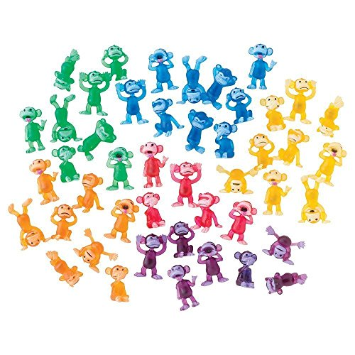 AAG 100 Funny Monkey Tiny Plastic Monkey Figures Party Favors