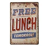 Poster Métallique Affiche Peinture Art Décoratif Vintage pour Bar Café Pub 20cmx30cm Lettres # 7