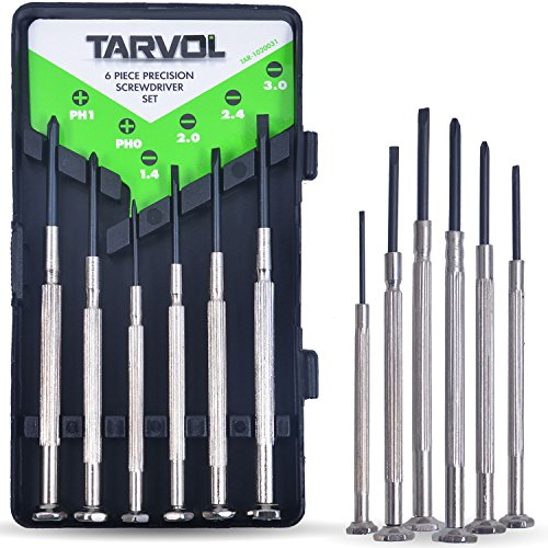 Precision Screwdriver Set (SET OF 6 WITH CASE) Flathead & Philips in 6...