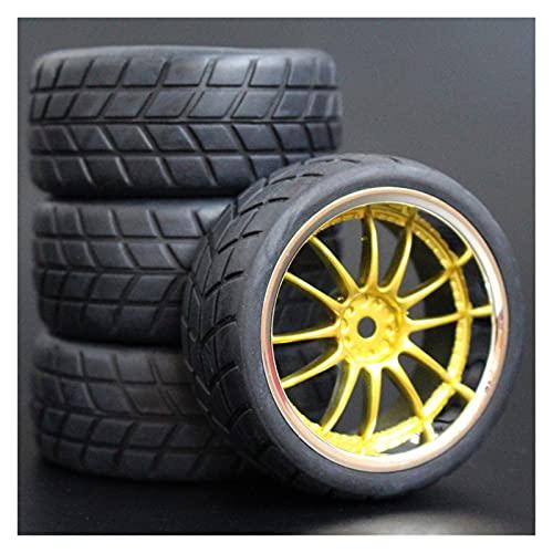 HYZZ Neumáticos de Coche de Juguete 4 Uds 26mm Neumáticos De Goma RC Y Llantas Hexagonales 12 para 1:10 para HSP para HPI Sprint 2 Drift RS4 En Carretera 4WD ( Size : 9003-6083 )